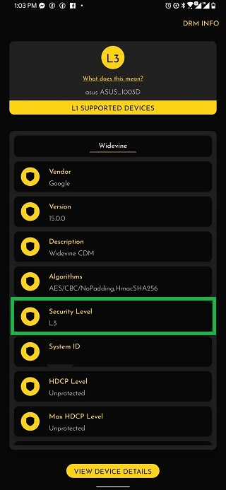 Asus-ROG-Phone-3-Widevine-L3-issue-user-report